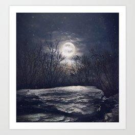Cold Moon Magic Art Print
