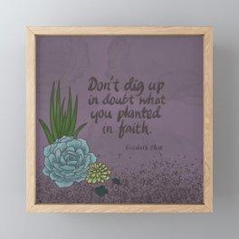 Faith Succulents Framed Mini Art Print