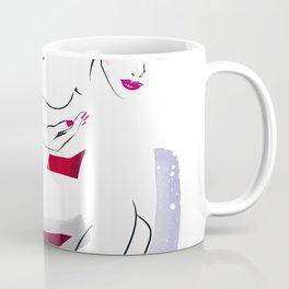 Naked Beauty, Nude Body, Fashion Painting, Fashion IIlustration, Vogue Portrait, Red colour, #14 Coffee Mug
