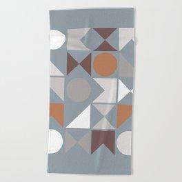 Mid Century Modern Geometric 17 Beach Towel