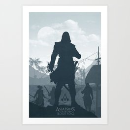 Assassin's Creed Blck Flag Art Print