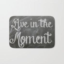 Handwritten chalk text on blackboard - inspirational quote Bath Mat