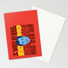 Voted to Kill Big Bird Stationery Cards