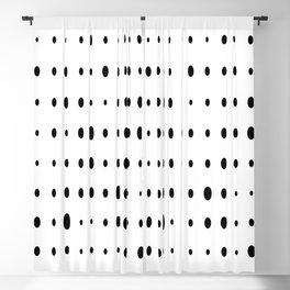 White base black dot Blackout Curtain