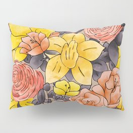 Random Flowers Pillow Sham