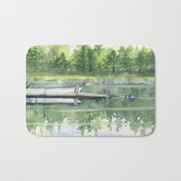 A Summer Pond Bath Mat
