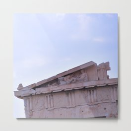 Parthenon Pediment Metal Print