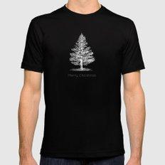 Simple Christmas Tree X-LARGE Black Mens Fitted Tee