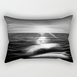 B&W Surfer's Sunset Rectangular Pillow