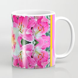 PINK & WHITE SPRING FLOWER GARDEN Coffee Mug