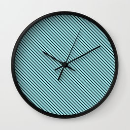 Island Paradise and Black Stripe Wall Clock