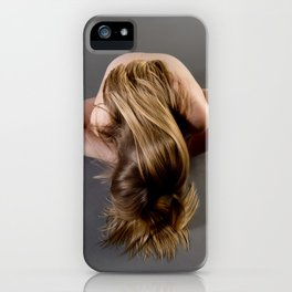 1784s-MS Seated Blond Woman Implied Nude iPhone Case