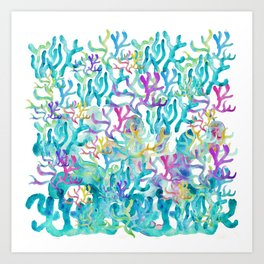 Ocean life Art Print