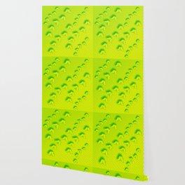 Camouflaged butterflies in green Wallpaper