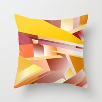 orange pattern Throw Pillows featuring Orange pattern by sladja