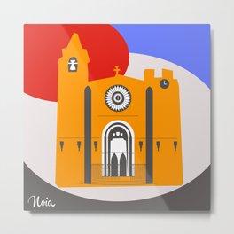 Noia, a beautiful town in Galicia Metal Print