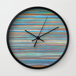 Colorful lines summer pattern Wall Clock
