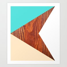 Color & Wood Art Print