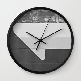 Arrow (Black and White) Wall Clock