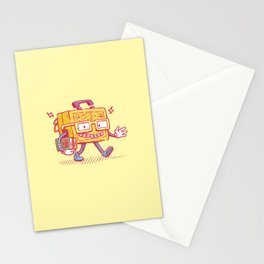 Back to School Lunchpail Bot Stationery Cards