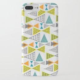 Geometric Mid Century Modern  Triangles iPhone Case