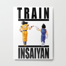 Train Insaiyan - Goku & Vegeta Metal Print
