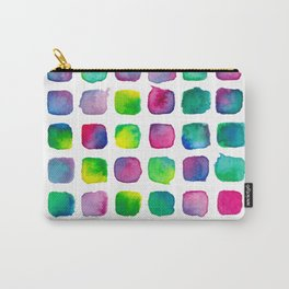 Watercolor Squares Carry-All Pouch