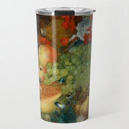 "Jan van Os  ""Fruit still life with a mouse on a ledge"" Travel Mug"
