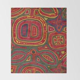 Kunas artwork Throw Blanket