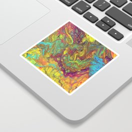 Acrylic Pouring #5 Sticker
