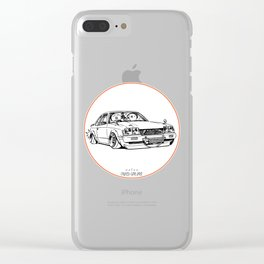 Crazy Car Art 0208 Clear iPhone Case