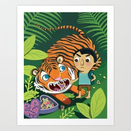 Cookie Tiger Art Print