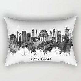 Baghdad Iraq Skyline BW Rectangular Pillow