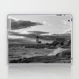 Annisquam Lighthouse Black and white Laptop & iPad Skin
