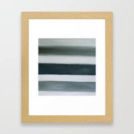 grey strata Framed Art Print