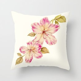 Azalea Watercolor Painting 2 Throw Pillow