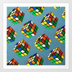 Rubik's Cube Collage Art Print