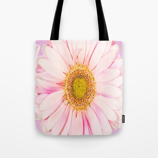 Pink flower with pink background - lovely girlish summer feeling Tote Bag