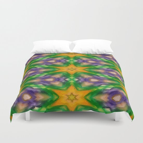 Mardi Gras stars #4509 Duvet Cover