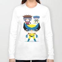x men Long Sleeve T-shirts featuring X Men fan art by danvinci