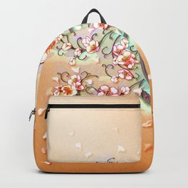 VD: monogram in flower Backpack