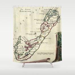 Vintage Map of Bermuda (1778) Shower Curtain