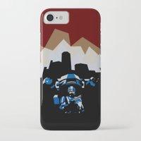 robocop iPhone & iPod Cases featuring RoboCop by iankingart