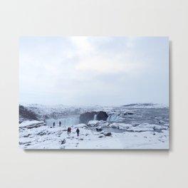 Godafoss Waterfall, Iceland Metal Print