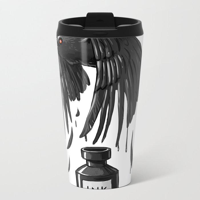 Ink Raven Metal Travel Mug
