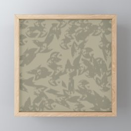 Eagle Taupe Gray Framed Mini Art Print