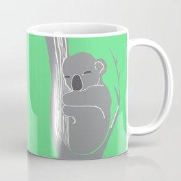 Sleeping Koala Printmaking Art Coffee Mug