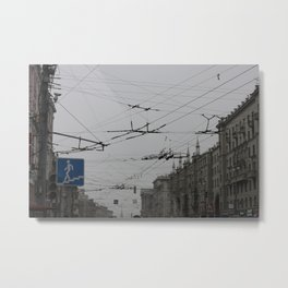 Overhead wires Moscow Metal Print