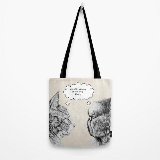 Cat Confusion Tote Bag