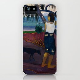 Paul Gauguin - I Raro Te Oviri (Under the Pandanus) (1891) iPhone Case